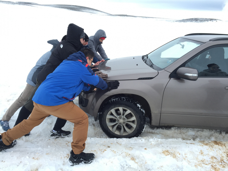 Got stuck, Iceland