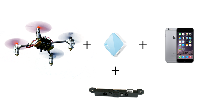 Components of Smartphone Controlled Quadcopter